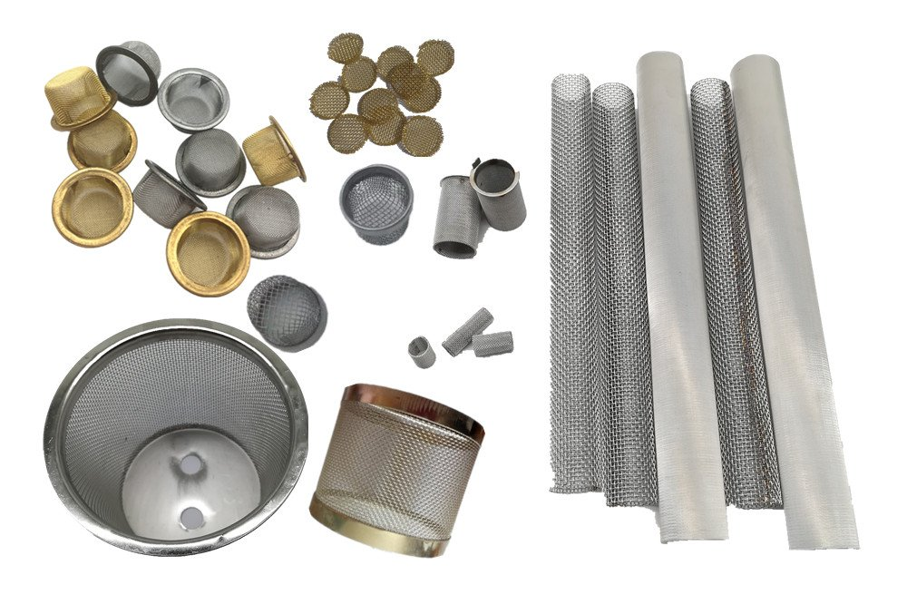 mesh filter tubes and caps
