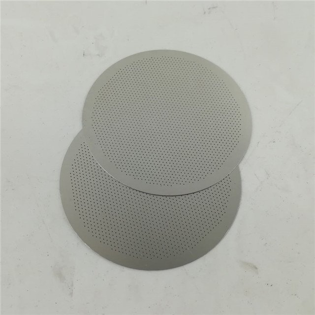 etched coffee filter disc
