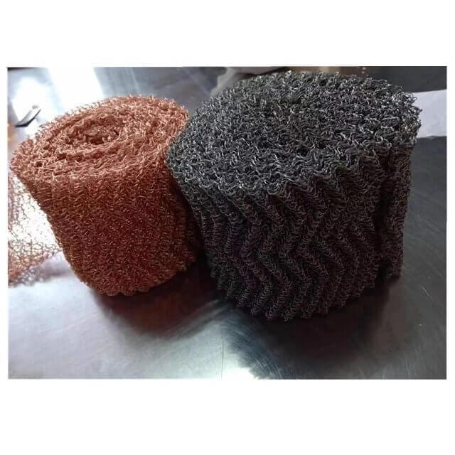 knitted copper & stainless steel wire mesh