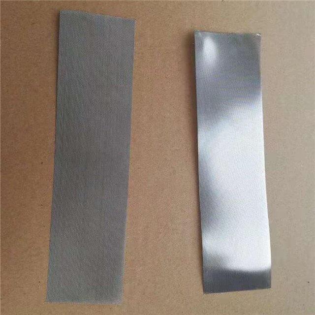mesh discs (rectangular shape + woven, etched mesh)