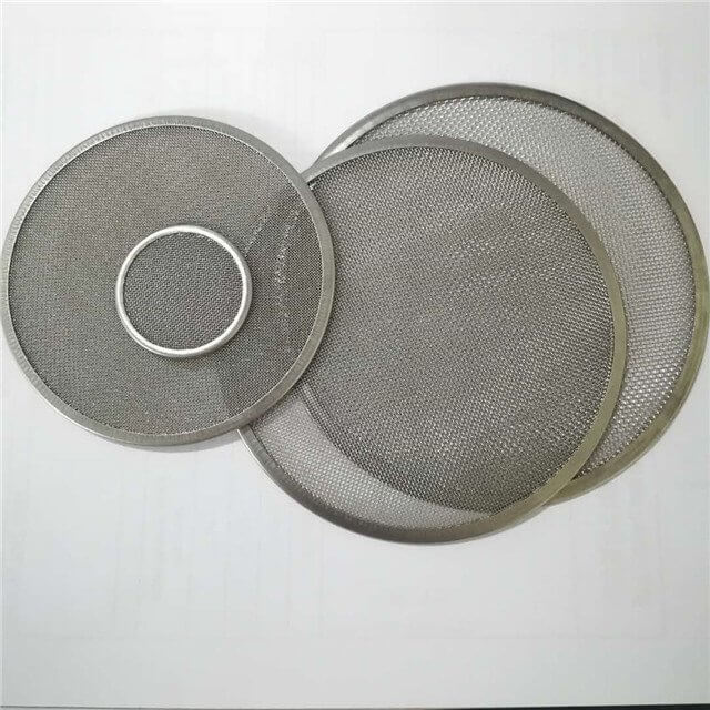 stainless steel mesh discs (round + different sizes and mesh + metal rim)