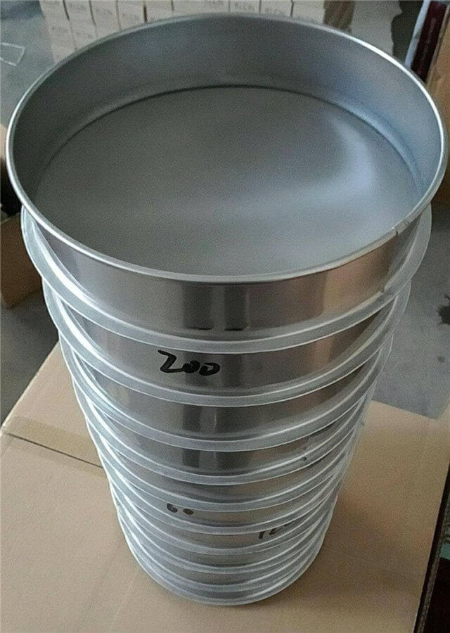 a set of sieves are stacked together